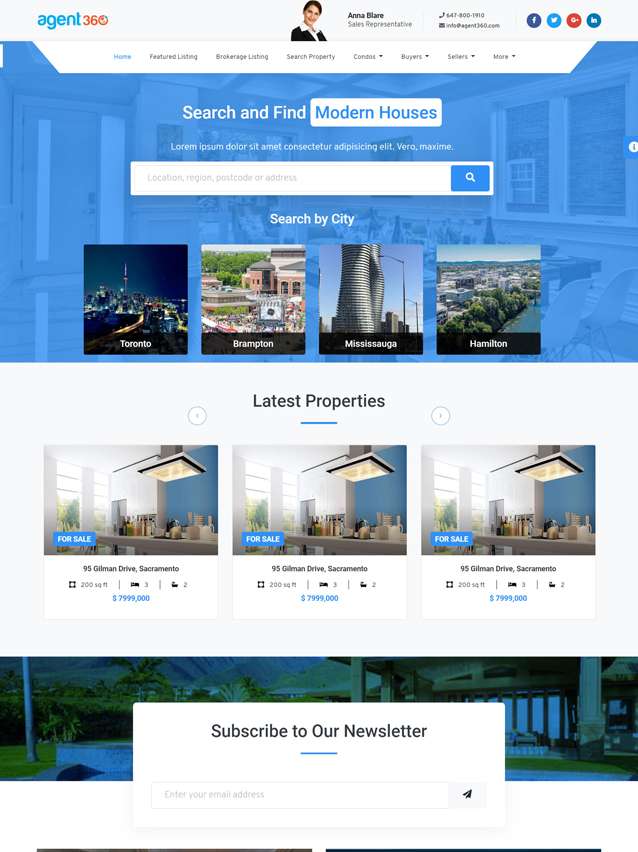 real estate agent websites with crm