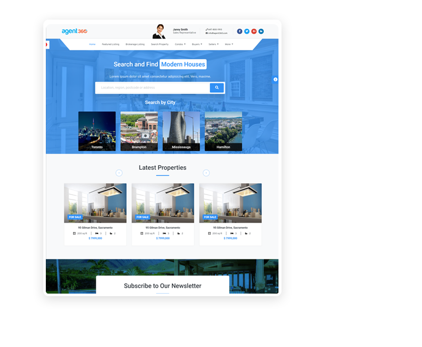 real estate websites and crm