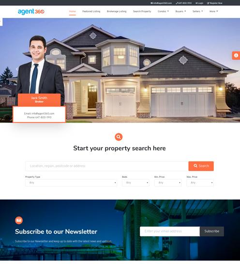 brokers website theme