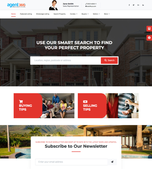 real estate website theme