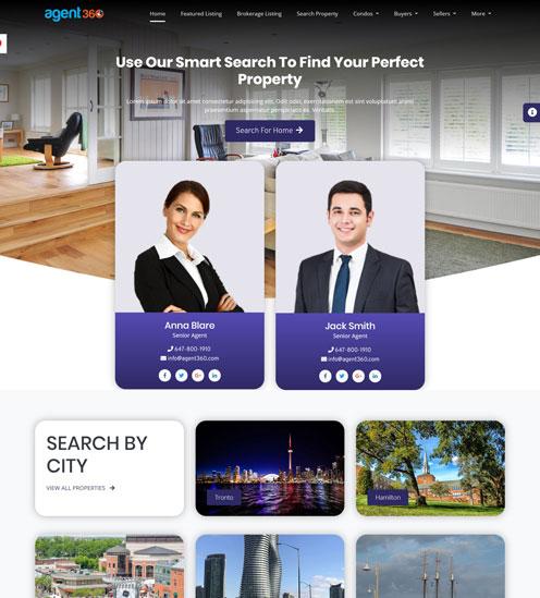 agents website builder