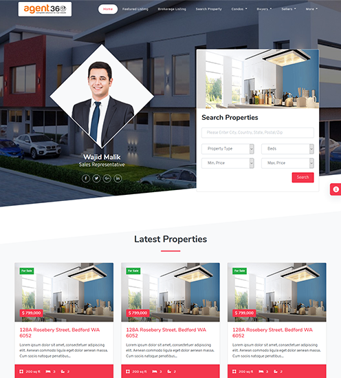 realtors website template