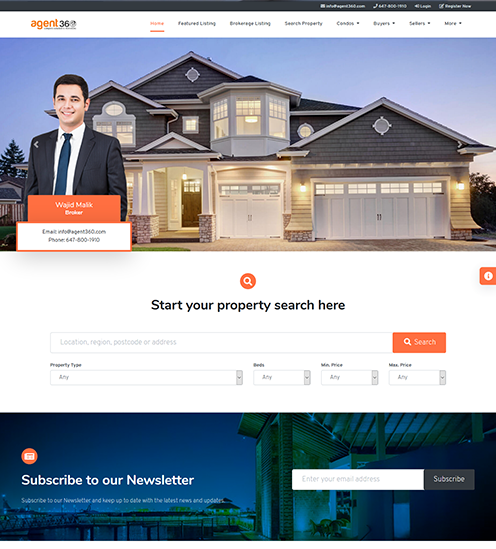 brokers website theme